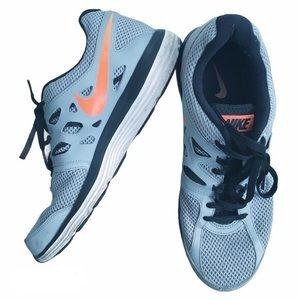 Nike 9.5 Dual Fusion Gray Orange Men's Sneakers